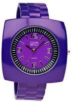 Eton Ladies Square Case Purple Bangle Watch 2870-6