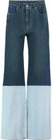 MM6 MAISON MARGIELA Patchwork High-Rise Wide-Leg Jeans