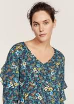 Violeta BY MANGO Ruffles floral blouse