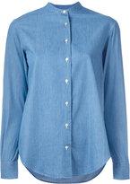 Xacus mandarin collar denim shirt