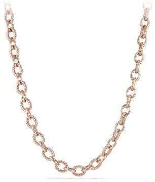 David Yurman Large Oval Link Necklace In 18K Rose Gold