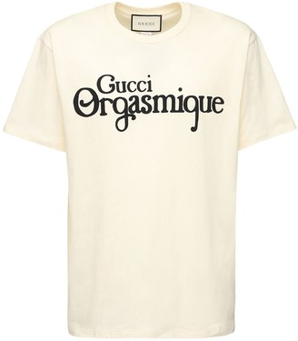 Gucci Orgasmique Print Cotton T-Shirt