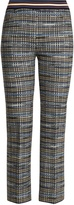 Missoni Slim-leg checked wool-blend knit cropped trousers