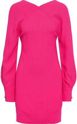 Victoria Beckham Open-back Textured-crepe Mini Dress
