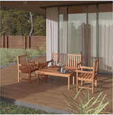 International Home Miami Amazonia Eucalyptus Patio Set
