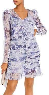 Aqua Ruched Puff-Sleeve Dress - 100% Exclusive