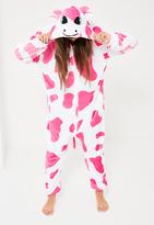Missguided Pink Cow Onesie