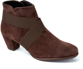 Amalfi by Rangoni Coffee Leather Pedina Bootie