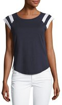 Splendid Varsity Active Sporty Muscle Tee, Ink/White