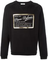 Pierre Balmain brand print sweatshirt - men - Cotton - 54