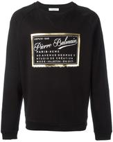 Pierre Balmain brand print sweatshirt