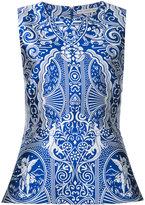 Mary Katrantzou Dino jacquard peplum blouse - women - Silk/Polyester - 12
