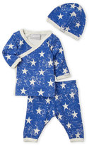 Coccoli Newborn) 3-Piece Star Print Top & Pants Set