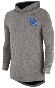 Nike Men's Kentucky Wildcats Hooded Sideline Long Sleeve T-Shirt