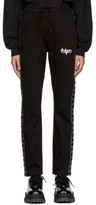 Wheir Bobson Black Denim Side Line Track Pants