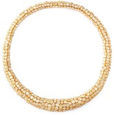 LC Collection Diamond cluster 18k gold necklace