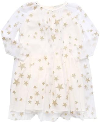 Stella Mccartney Kids Glitter Stretch Tulle Party Dress
