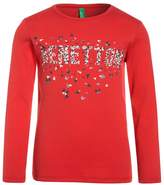 Benetton Long sleeved top red