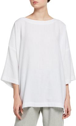 eskandar 3/4-Sleeve Scoop-Neck Tunic