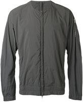 Attachment collarless zip jacket