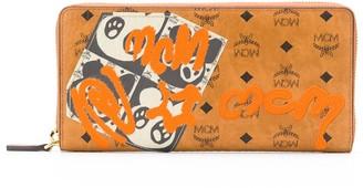MCM graffiti Visetos logo-print wallet