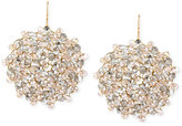 Kenneth Cole New York Gold-Tone Topaz Faceted Bead Drop Earrings