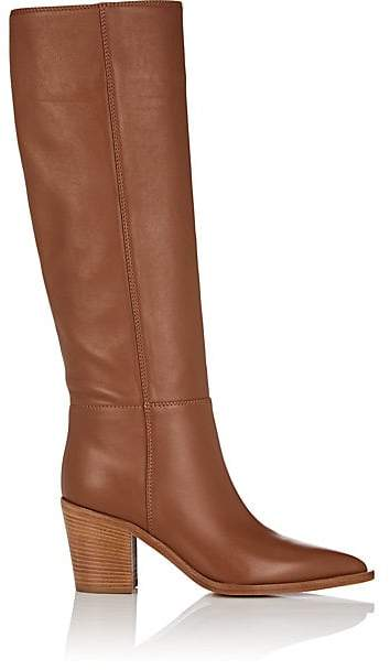 Gianvito Rossi Women's Leather Knee Boots - Brown
