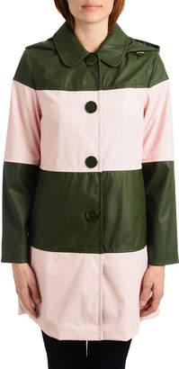 Kate Spade Colorblock Long Raincoat
