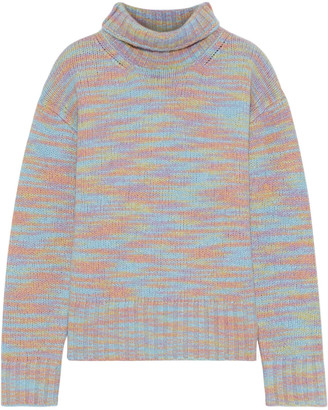 Sies Marjan Yuki Melange Merino Wool And Silk-blend Turtleneck Sweater