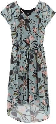 Fifteen-Twenty Shirred Floral Print High/Low Dress