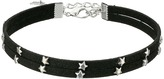 Steve Madden 2 Row Black Suede with Stars Choker Necklace Necklace