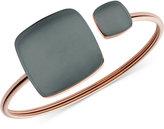 Skagen Rose Gold-Tone Two-Stone Cuff Bracelet SKJ0874
