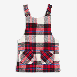 Joe Fresh Baby Girls' Plaid Pinafore, Red (Size 12-18)