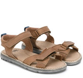 Pépé double strap sandals - kids - Calf Leather/Leather/rubber - 24