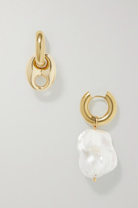Timeless Pearly Gold-plated Pearl Earrings