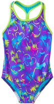 Speedo Girls' Neon Love Keyhole Thick Strap One Piece Swimsuit (4yrs6X) - 8137116