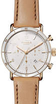 Shinola Canfield Sport 40mm 3-Eye Chronograph Watch with Camel Leather Strap