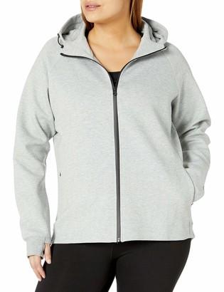 Core 10 Women's Plus Size Motion Tech Fleece Fitted Full-Zip Hoodie Jacket