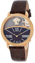 Versace 93Q80BD598S497 Women's Brown Genuine Leather Brown Dial Gold-Tone