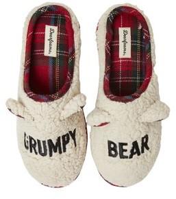 Dearfoams Unisex Teddy Bear Clog Slippers
