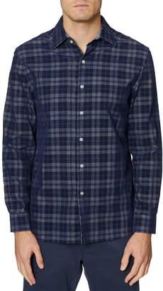 Hickey Freeman Bleecker Plaid Print Regular Fit Shirt