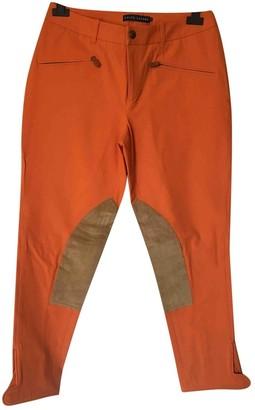 Ralph Lauren Orange Cotton Trousers