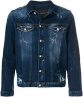 John Richmond distressed denim jacket