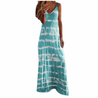 ReooLy Women's Boho Beach Maxi Dress