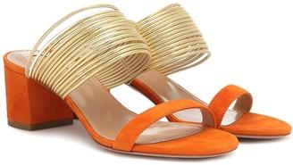 Aquazzura Rendez Vous suede sandals