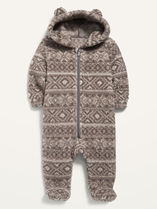 Old Navy Unisex Fair Isle Sherpa Critter One-Piece for Baby
