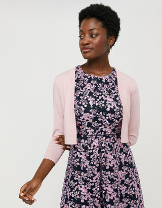 Under Armour Riya Cropped Cardigan with Ruched Sleeves Pink
