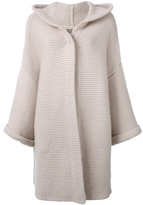 N.Peal ribbed detail cardi-coat - women - Cotton/Cashmere - One Size