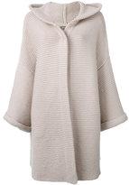 N.Peal ribbed detail cardi-coat