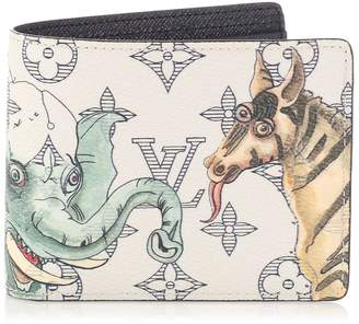 Louis Vuitton Multiple Wallet Savane Monogram Chapman Ink White